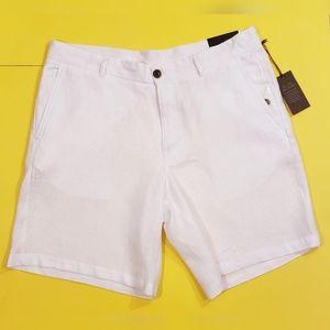 Taso Elba 100% White Linen Shorts